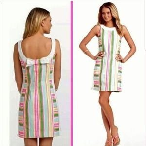 Lilly Pulitzer Darcy Spicy Stripe Bow Back Dress